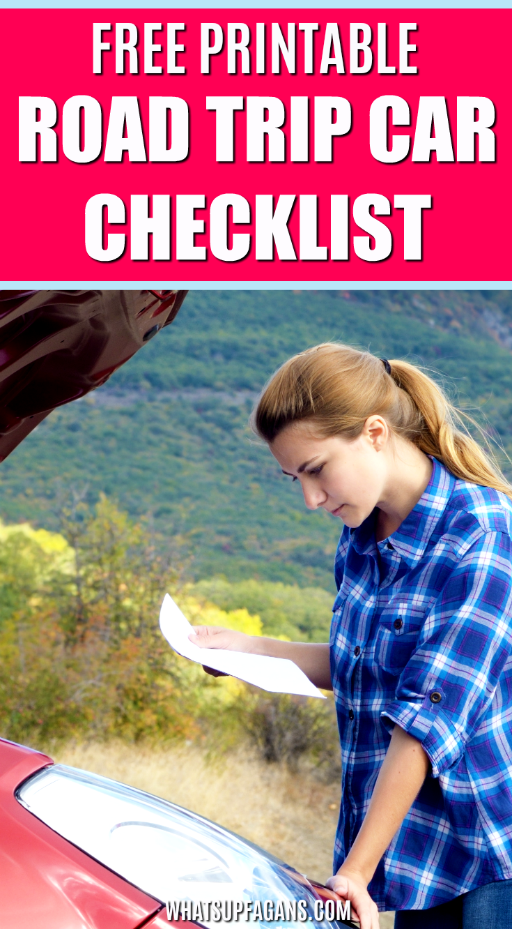 road trip car checklist - free printable! Figure out what car maintenance you need for your next long family road trip! #cars #car #carmaintenance #checklist #freeprintable #printable #roadtrip #roadtrips #travel #familyroadtrip #familytravel #carcheck #freebie