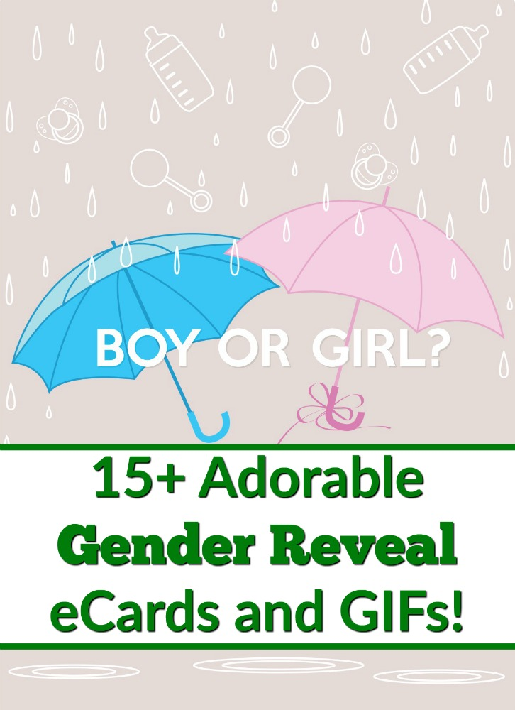 While some people choose to do a big gender reveal party, other choose to come up with creative ideas to spill the beans on their little bean's gender. Or sometimes it's a matter of sending out a cute gender reveal ecard or GIF. I mean, isn't everything done online these days?! #genderreveal #baby #pregnancy #babyshower #pregnancy #genderrevealparty #genderreveal #ecards #cards #gif #gifs #boyorgirl #gender #party