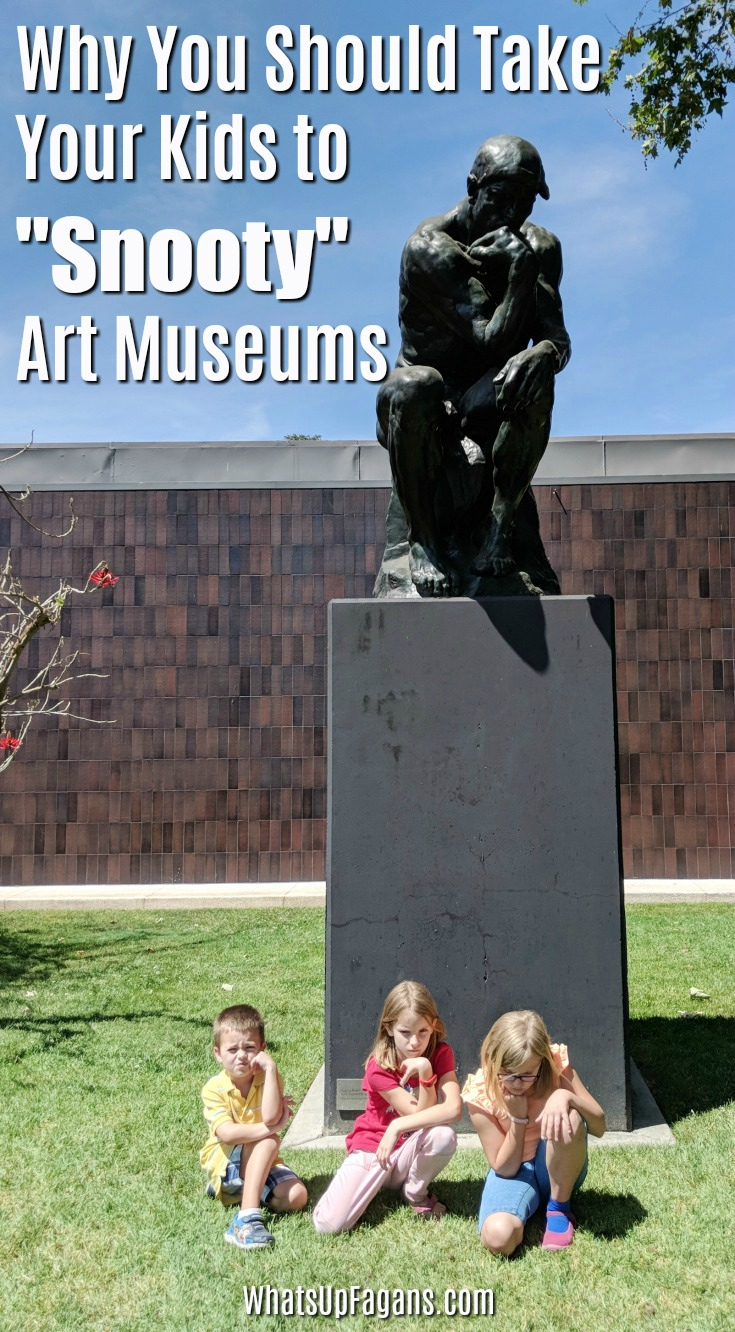 Interesting thoughts on taking kids of all ages to places like art museums. #art #artmuseums #kidsart #kids #family #largefamily #largefamilies #bigfamilies #normalizingfamilies #artmuseum #nortonsimon #thethinker