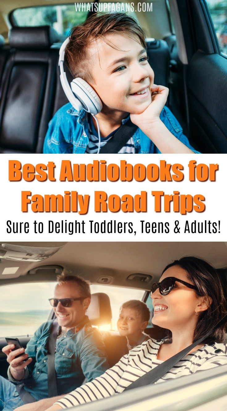 best audiobooks for family road trip - Perfect list of books to listen to while driving in a car, traveling as a family. #travel #familytravel #roadtrip #roadtrips #familyroadtrip #audible #audiobooks #books