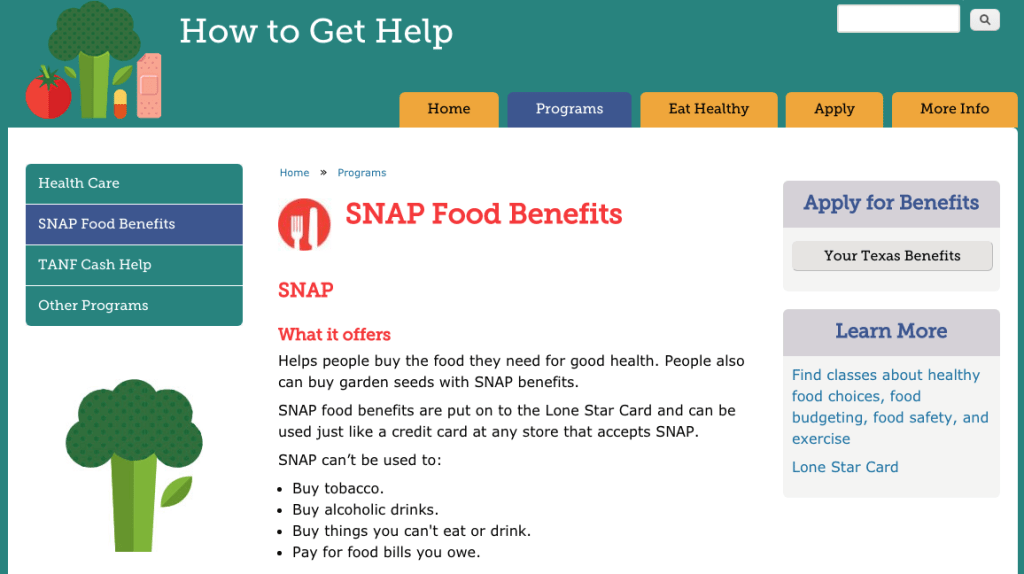 SNAP Food Benefits screenshot