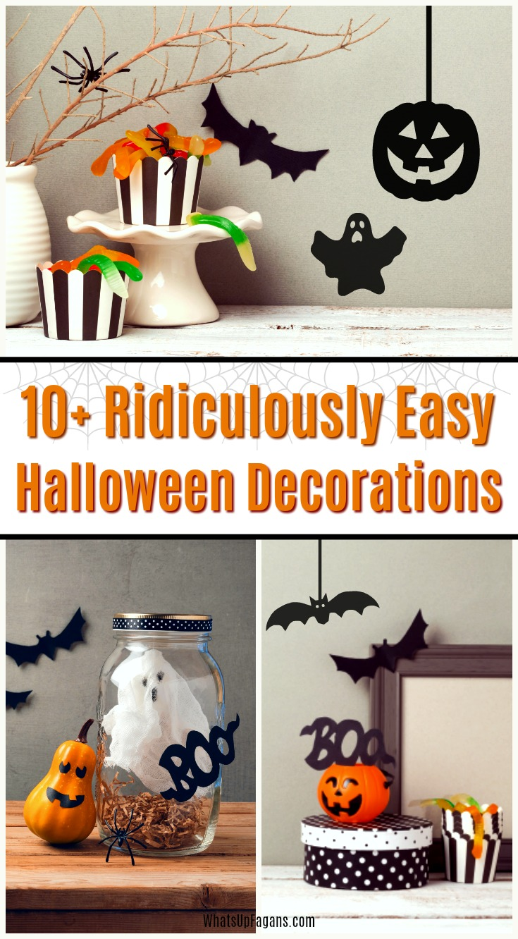 Great list of 10+ cheap and easy Halloween decorations! Truly easy DIY Halloween decorations for outdoors and indoors.#Halloween #Halloweendecorations #Halloweendecor #Halloweendecoration #easy #cheap #decoration #holidays