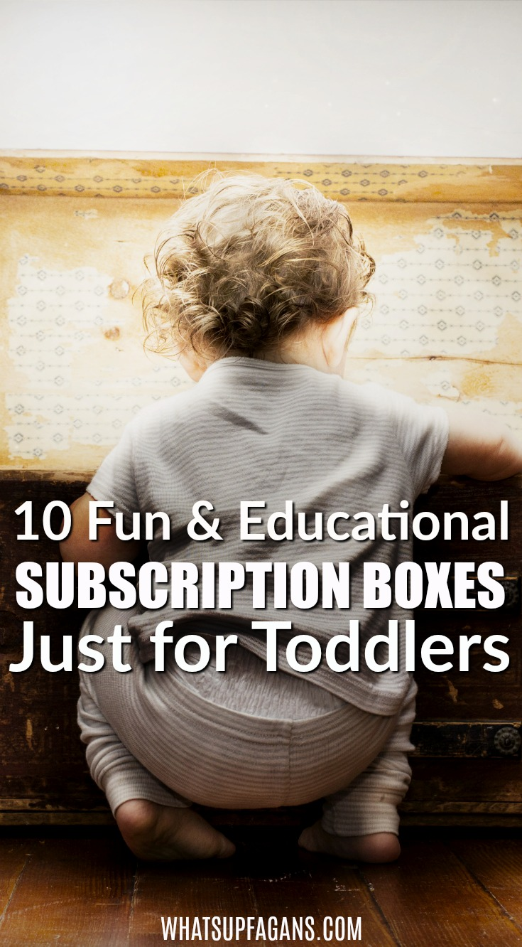 If you are looking for monthly subscription boxes for toddlers, you'll love this list of 10 subscription boxes for toddlers. There is a toddler book subscription, a monthly craft box for toddlers, toddler toy boxes, and even a sensory box for toddlers! Have fun finding the right one for your toddler! #toddlers #subscriptionboxes #education #preschool #toddlerplay #toddler #parenting #educational #preschooler