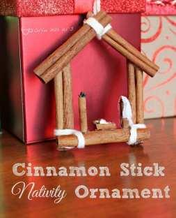 cinnamon stick nativity craft ornament