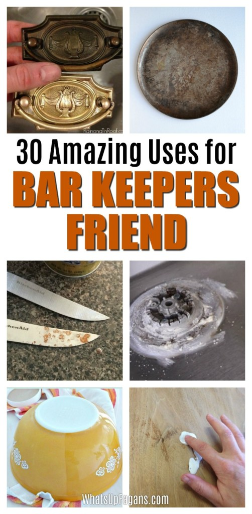 There seems to be an almost endless amount of Bar Keepers Friend uses! Read on to discover 30 special uses for Bar Keepers Friend all around your home, from cleaning stainless steel to glass to an acrylic tub and so much more!