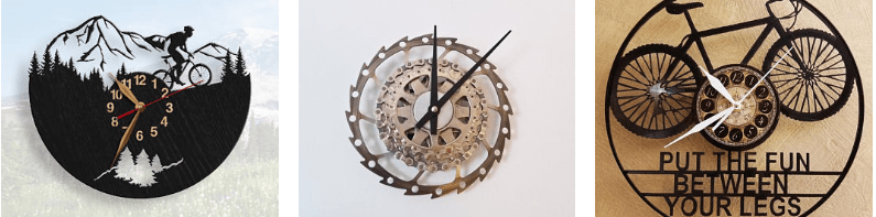 cool cycling gifts for cycling fanatics - cycling wall clocks