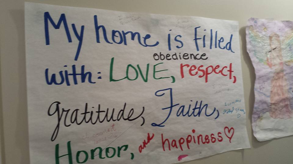 Christian family mission statement example from Stanton family