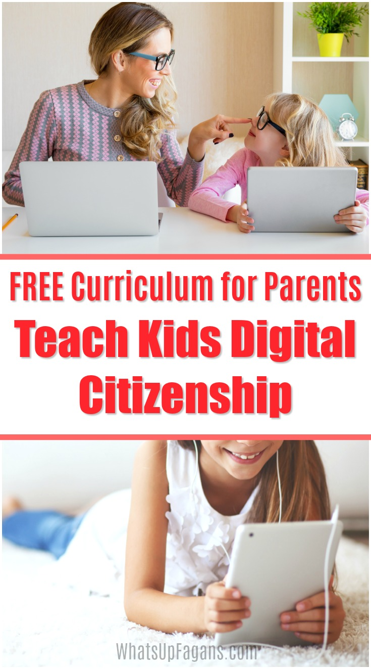 It's so important to teach digital citizenship for kids within our own homes! Parents, read on to discover great digital citizenship lessons, games, and curriculum for you to use as you teach what is digital citizenship for kids to your children. #onlinesafety #cyberbullying #socialmedia #instagram #computers #internet #internetsafety #parentingtips #Google #BeInternetAwesome #SaferInternetDay