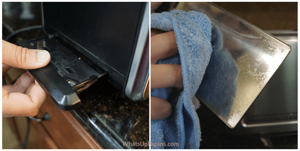 cleaning stainless steel toaster appliance tray