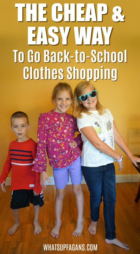 cheap and easy way to go back-to-school shopping for used kids clothing online for all ages of children thanks to Kids on 45th clothing subscription box for kids