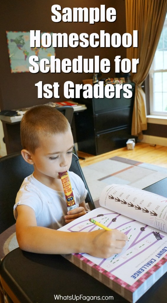 sample homeschool schedule for 1st graders - an example of what routine for first grade