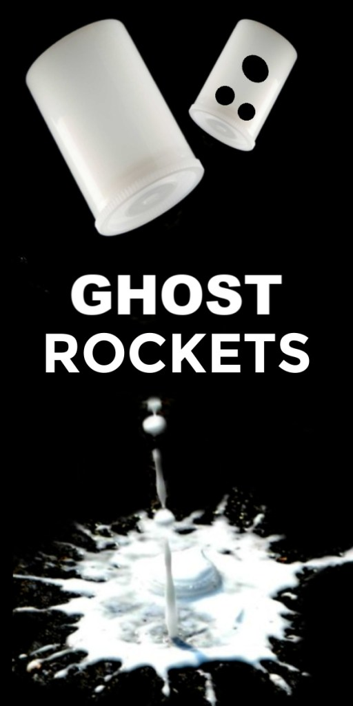 ghost rockets for an easy and fun Halloween science experiment for kids