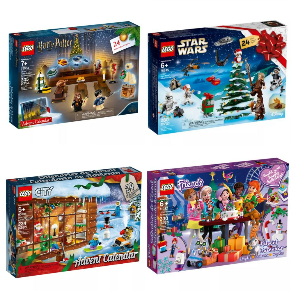 2019 LEGO Advent Calendars for Kids - Lego Harry Potter advent calendar is brand new this year to the lineup, and then LEGO Star Wars advent calendar, LEGO City advent calendar, and LEGO Friends advent calendar.