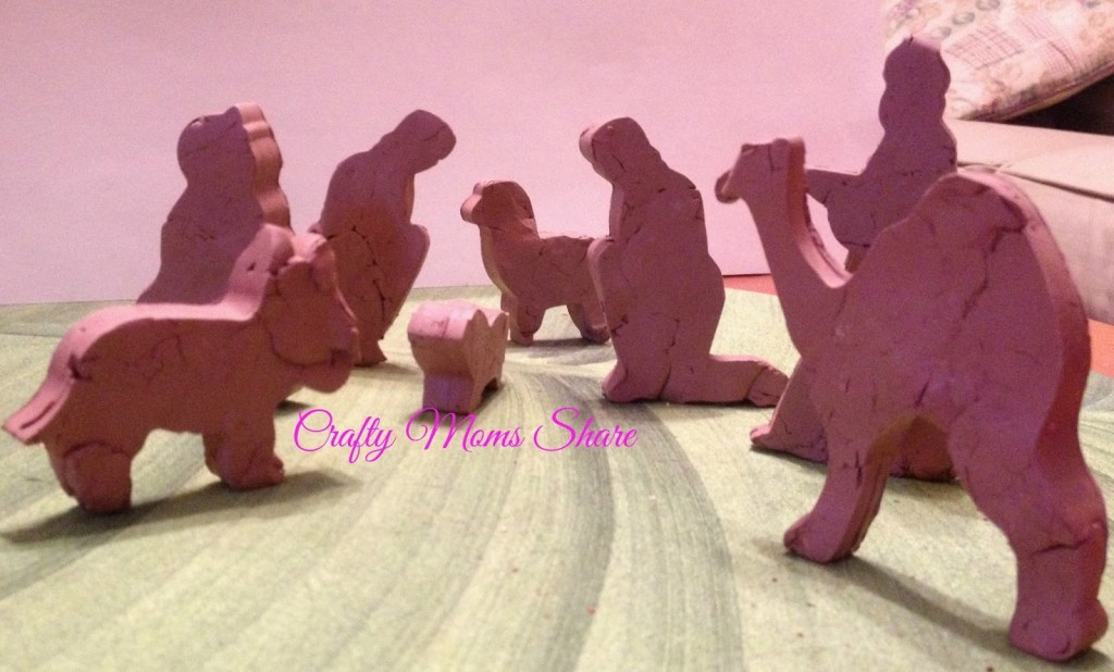 clay standup nativity craft