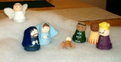 mini clay pot nativity crafts