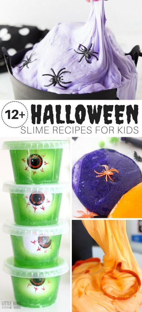 Halloween slime recipes for kids