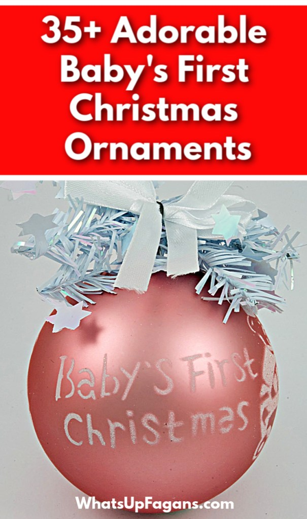 35+ adorable baby's first Christmas ornaments - cute baby girl first Christmas ornament hanging