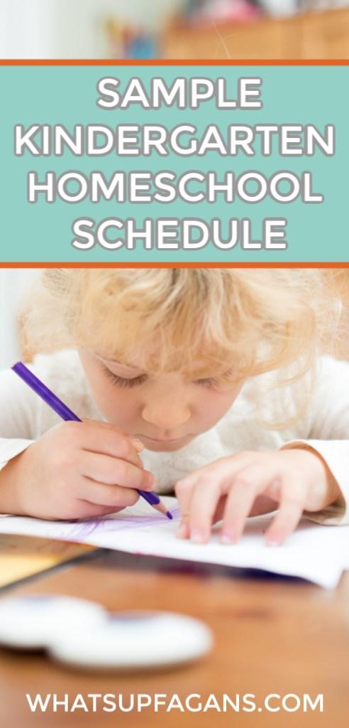 sample schedule for kindergarten homeschool - simple daily schedule and routine for homeschool kindergartner.