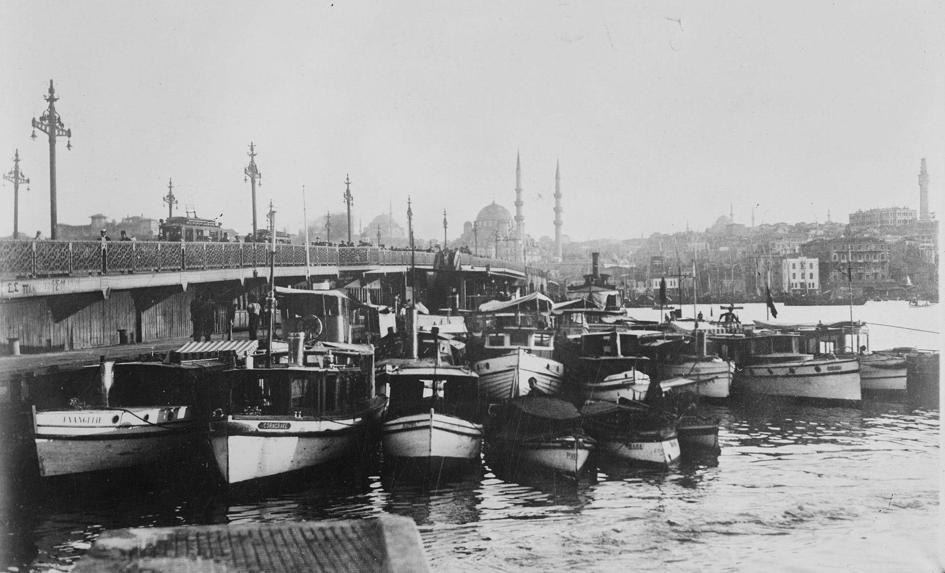 Galata Bridge Constantinople of Edmondo De Amicis