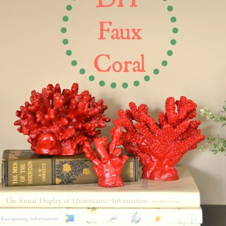 diy faux coral,pottery barn knock offcoral,polymer clay coral,how to make faux coral