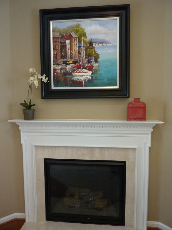 Simple Fireplace Mantel Decor