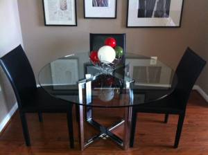 Scouting Craigslist Edition Whats Ur Home Story   Cb2 Round Glass Table