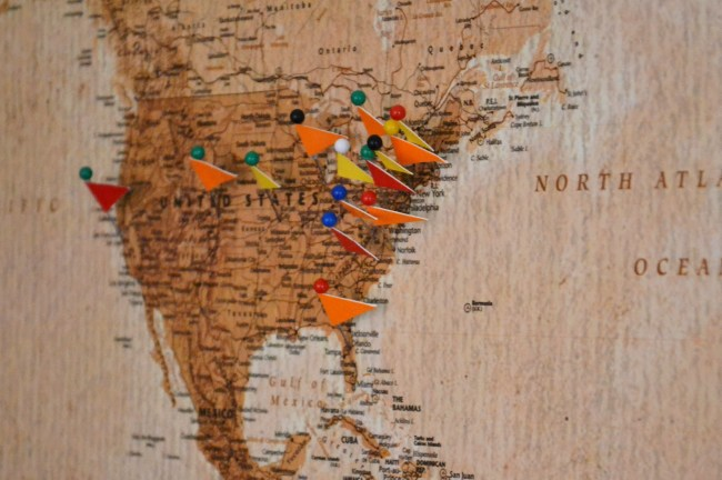 Diy cork board map whats ur home story diy cork board map gumiabroncs Choice Image