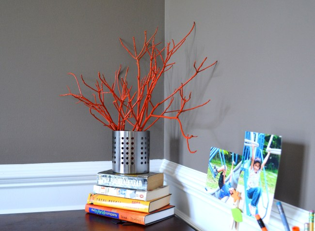 DIY Painted Tree Branches with Spray Paint