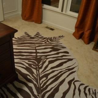 faux zebra hide rug