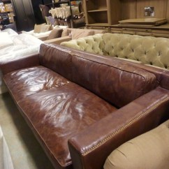 Pottery Barn Leather Sofa Quality Top Brands Window Shopping @ The Restoration Hardware Outlet | Whats ...