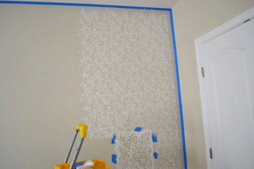 How to Stencil a Wall + A Trick to Fix the Uneven Edges