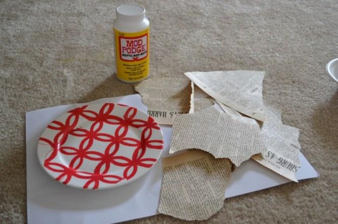 DIY Decoupage Plate