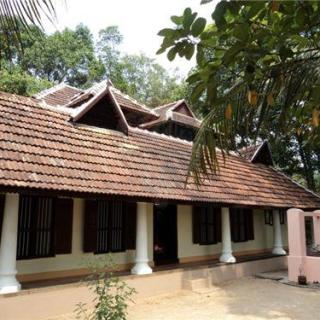 traditional kerala house with front porch