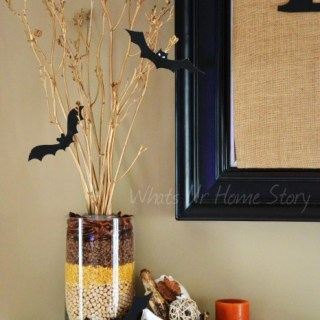 Whats Ur Home Story: Fall centerpiece, layered beans vase