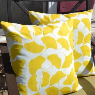Ginkgo Pillow, Ginkgo fabric, Make Your Own Ginkgo Fabric Pillows