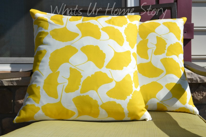 Make Your Own Ginkgo Fabric Pillows Whats Ur Home Story