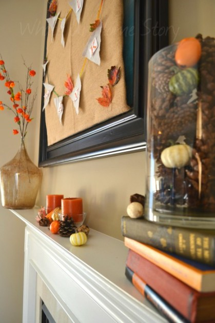 Upcycled Thanksgiving Mantel
