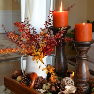 Whats Ur Home Story: Frugal Thanksgiving DIY decor