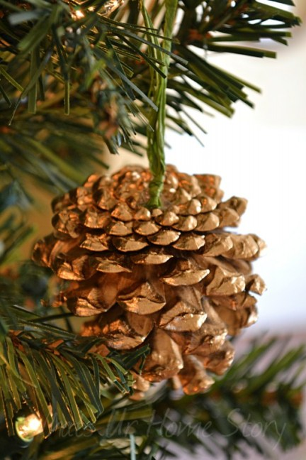 Gilded Pine Cone Ornament Knockoff