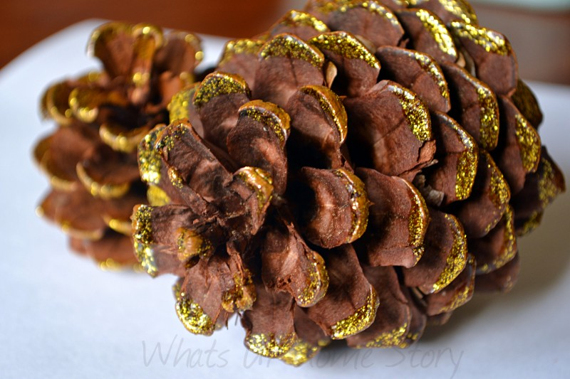 Glitter Dipped Pine Cone Ornament