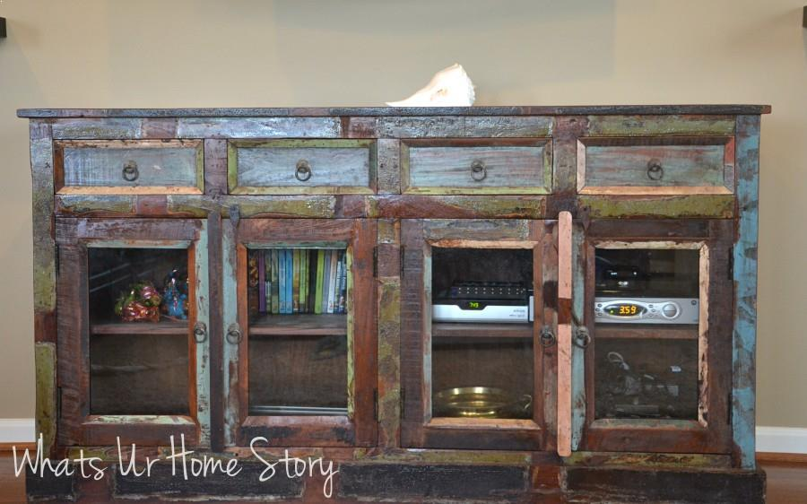 reclaimed wood media shes here - Reclaimed Wood Media Console