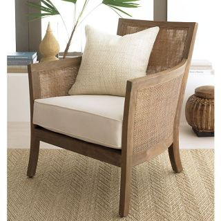 Crate and Barrel Blake Grey Wash Lounge Chair
