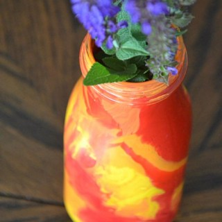 Recycled Bottle Vases, DIY vases, painted bottles as vases