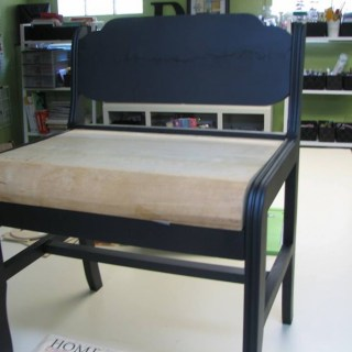 Mod podge bench, bench makeover