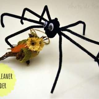 Whats Ur Home Story: Pipe cleaner spider, easy Halloween craft