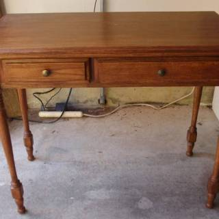 small desk, console table