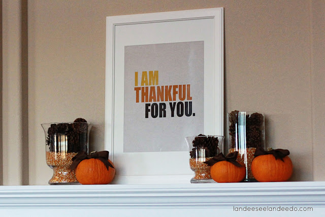 Simple Thanksgiving Mantel Whats Ur Home Story