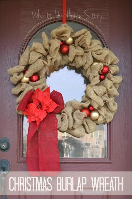 Christmas Burlap Wreath Whats Ur Home Story
