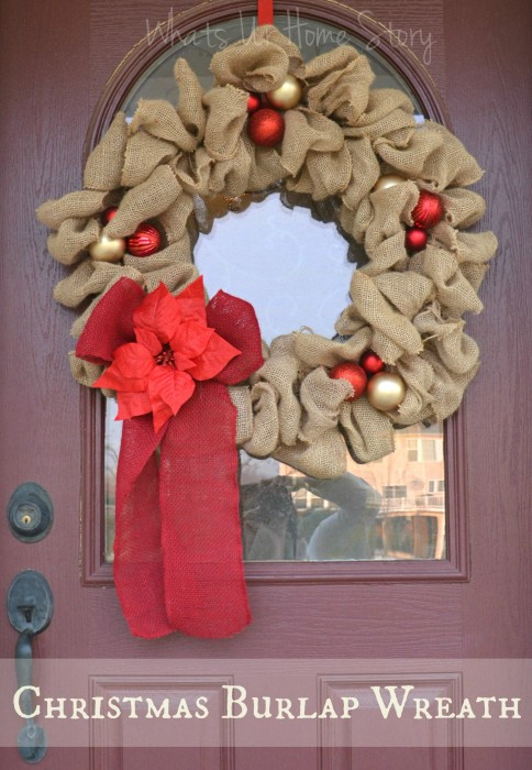 Christmas Burlap Wreath | Whats Ur Home Story