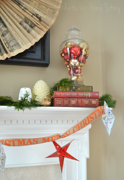 My Rustic Christmas Mantel